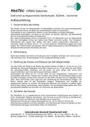 HASTEC - ORBIS Gabionen Aufbauanleitung - Roess Nature Group