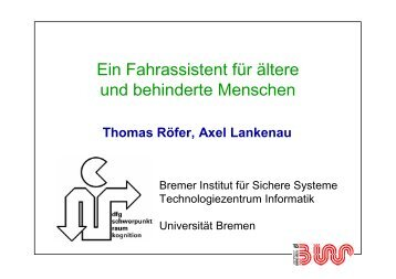 München - Informatik - Universität Bremen
