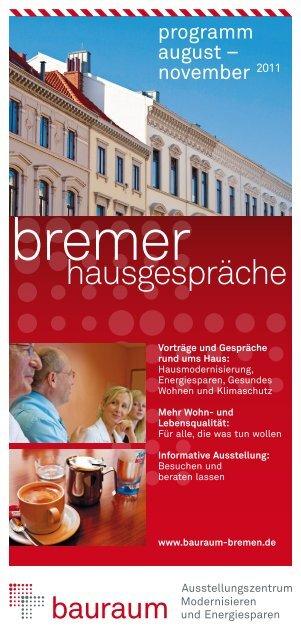 Programm der Bremer Hausgespräche - LBS