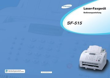 Laser-Faxgerät Bedienungsanleitung