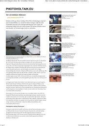 photovoltaik-Magazin online: Der vermeidbare ... - Markus Scholand