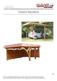 Carport Info Joda - Holz-TRAT Ideen in Holz