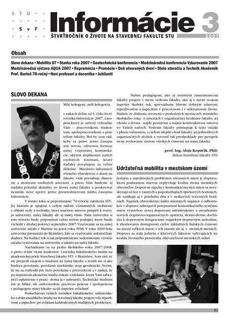 3 - Stavebná fakulta STU v Bratislave 610605810da