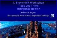 7. Bremer MR-Workschop Tipps und Tricks Männliches Becken