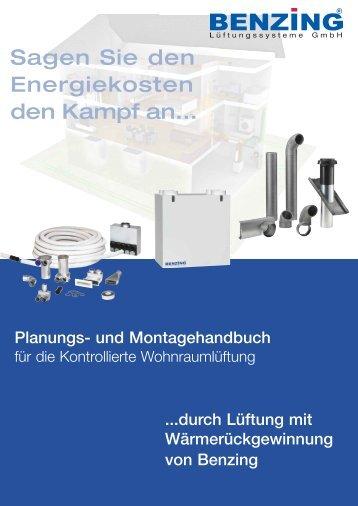 Planungs- und Montagehandbuch - Benzing Ventilatoren Startseite