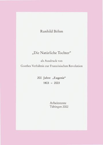 Die natuerliche Tochter - TOBIAS-lib - Universität Tübingen