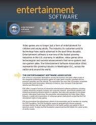 Entertainment Software Fact Sheet
