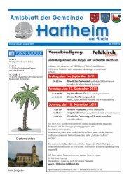 Gemeindeblatt 2011 KW 34 - Gemeinde Hartheim
