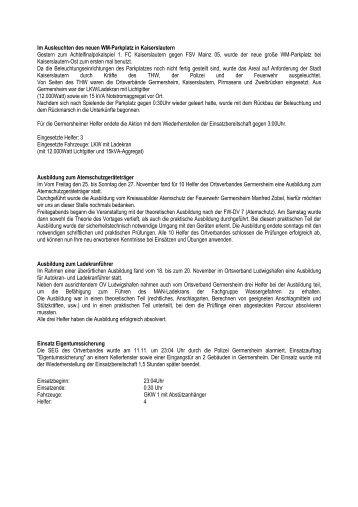 Berichte 2005 - THW Germersheim
