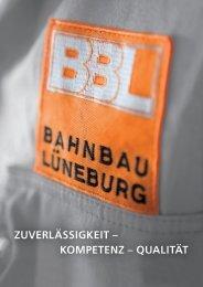 Download Imagebroschüre BBL - BBL Bahnbau Lüneburg GmbH