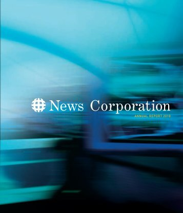 ANNUAL REPORT 2010 - News Corporation
