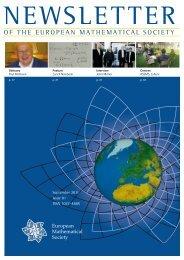 of the european mathematical society - Universidade de Lisboa