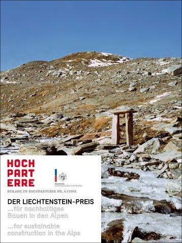 Der Liechtenstein-Preis … für nachhaltiges ... - Constructive Alps