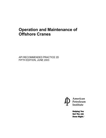 Operation and Maintenance of Offshore Cranes - OGP