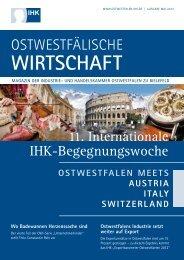 WIRTSCHAFT - Ostwestfalen meets USA