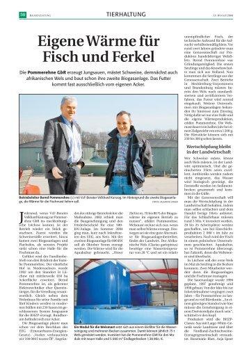 Eigene Wärme für Fisch und Ferkel - PAL-Anlagenbau GmbH