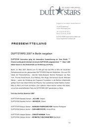 DUFTSTARS 2007 in Berlin vergeben - Fragrance Foundation ...