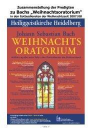 Predigt-Texte (pdf-Datei, 450KB) - Heidelberger Studentenkantorei