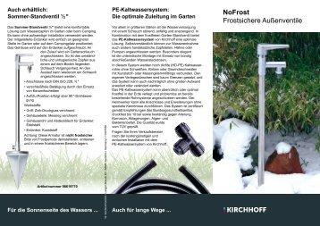 NoFrost Frostsichere Außenventile - W. Kirchhoff GmbH
