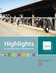 in Canadian Dairy Cattle Research - Publications du gouvernement ...
