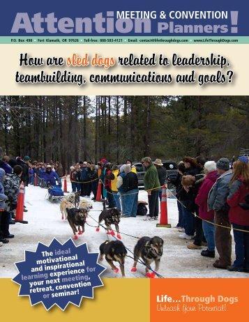 Life Through Dogs Speaker Brochure - LifeThroughDogs.com