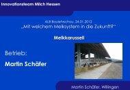 ALB Baulehrschau 24. 01. 2012, Schäfer Melktechnik