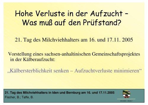 21. Tag des Milchviehhalters in Iden und Bernburg ... - Sachsen-Anhalt