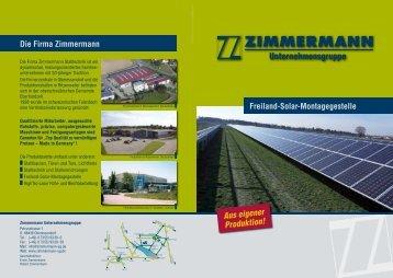 Flyer Freiland-Solar-Montagesystem ZM1 herunterladen