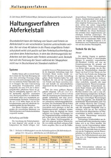 Haltungsverfahren Abferkelstall - Schonlau Stalltechnik