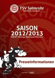 SAISON 2012/2013 - FSV Salmrohr 1921 e.V.