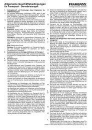 Allgemeine und Besondere Geschäftsbedingungen - Framepool
