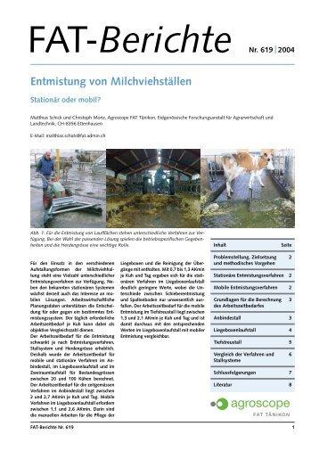 Entmistung von Milchviehställen - AgriGate AG
