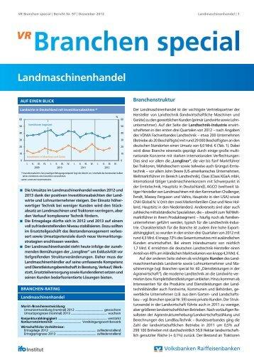 Landmaschinenhandel - Volksbank Stuttgart eG