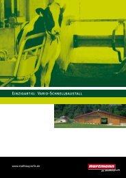 Einzigartig: Vario-Schnellbaustall - Hartmann GmbH