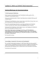 Amtsblatt Nr. 38/2012 vom 20.09.2012 Markt Frammersbach ...