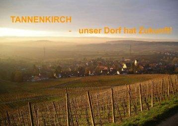 TANNENKIRCH - unser Dorf hat Zukunft! - Stadt Kandern