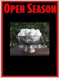 Open Season • Sunday, March 21, 2010 • Open Season • Sunday ...
