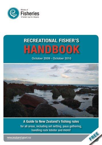Recreational Fisher's Handbook - Ministry of Fisheries