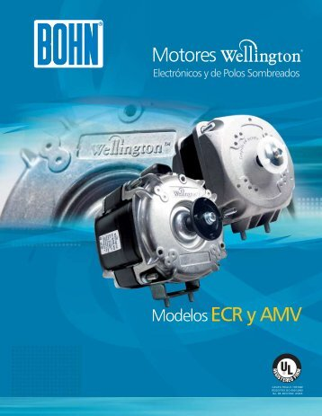 Motores ModelosECR y AMV - Bohn