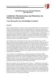 Leitbild der Mitarbeiterinnen und Mitarbeiter des ... - Frammersbach