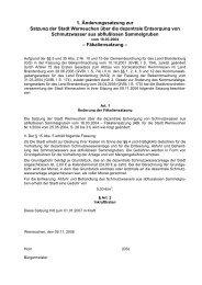 1. Änderungssatzung zur Satzung der Stadt Werneuchen über die ...