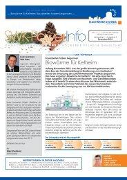 Biowärme für Kelheim - Stadtwerke Kelheim GmbH & Co KG