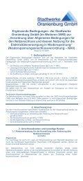 Verordnung - Stadtwerke Oranienburg GmbH