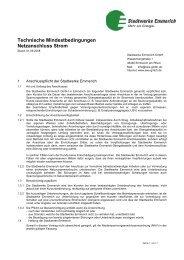 Anschlussbedingungen Strom - Stadtwerke Emmerich