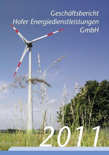 Geschäftsbericht der Hofer ... - Stadtwerke Hof