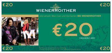 FASHION CARD Jetzt aktuell: Marc Cain und ... - Moden Wienerroither