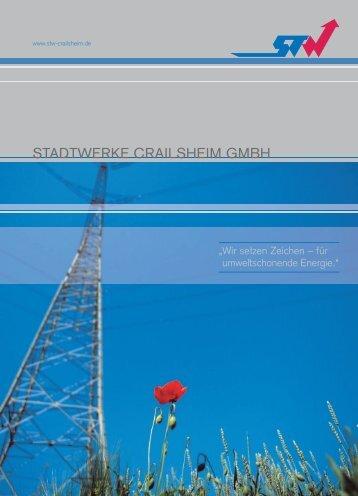 STW Imagebroschüre - Stadtwerke Crailsheim