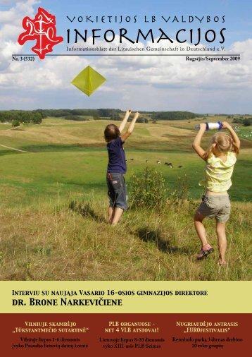 2009 Nr. 3, rugsėjis - Vokietijos Lietuvių Bendruomenė