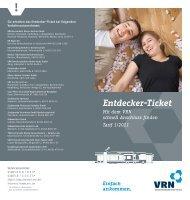 Entdecker-Ticket Gutschein - VRN Verkehrsverbund Rhein-Neckar