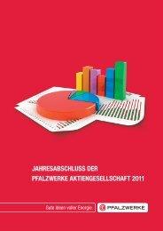 Jahresabschluss AG 2011 - Pfalzwerke